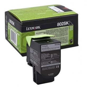 Lexmark 80C2SK0 (80C2SKE), originálny toner, čierny