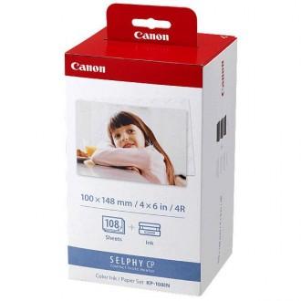Canon Color Ink Paper Set, KP108IN, foto papír, lesklý, biela, CP100, 220, 300, 330, 400, 500, 520, 600, 710, 10x15cm, 4x6